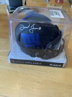 Daniel Jones Mini Helmet Eclipse Auto Beckett Cert.