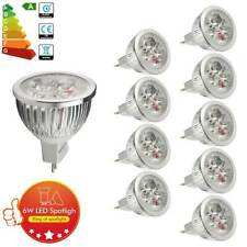 10x LED Bulbs MR16 6W=50watt Halogen Lamp Warm White Rating A++ Spotlight Light