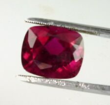 Cushion Cut Rubellite Tourmaline,100% Nat, One-of-a-Kind Gem 6.95 CTS. Red Color