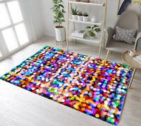 Custom Mat Modern Home Decorator Colorful Christmas Halo Area Rug Floor Carpet