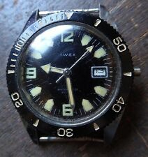 vintage 1969 VIETNAM ERA BLACK TIMEX RANGER WATCH ROTATING BEZEL FREE SHIPPING