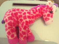 "14"" Wild Republic Plush Cuddlekins PINK GIRAFFE stuffed toy"