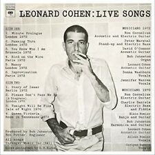 Leonard Cohen Leonard Cohen Live Songs vinyl LP NEW sealed