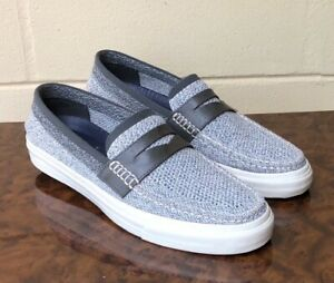 COLE HAAN Pinch Grand OS Woven Gray Men's Penny Loafer Slip On Shoes Sz US 12 M