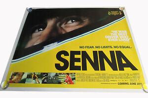Senna movie UK quad poster ORIGINAL D/S full size Ayrton Formula one Near mint