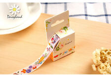 Butterflies and flower 15mmX5m Paper  Sticky Adhesive Sticker Masking Tape