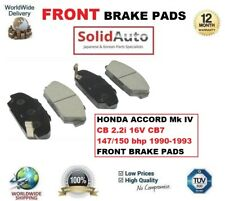FOR HONDA ACCORD Mk IV CB 2.2i 16V CB7 147/150 bhp 1990-1993 FRONT BRAKE PADS