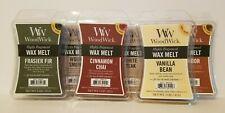 WoodWick Wax Melts 3 oz. Set of 2 Humidor Fireside Frasier Fir Wood Smoke, NEW