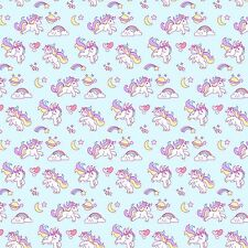 Printed Bow Fabric A4 Canvas Unicorns & Rainbows U10 Make glitter bows