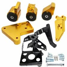 GOLD Engine Motor Mount Kit fits 96-00 Honda Civic K20 Engine