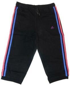 adidas YG ESS 3/4 Pant Jogging Hose schwarz bunte Streifen 92, 116, 128, 152
