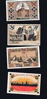 4x Notgeld Schein Stadt  SCHMÖLLN  Thüringen 10,20,25,75 Pf Serie