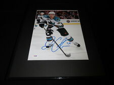 Logan Couture Signed Framed 11x14 Photo PSA/DNA Sharks D