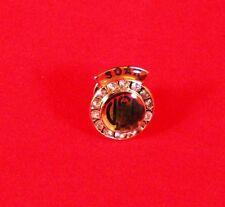 "Awesome Vtg 1"" Bra Tie Tack Pin Faux Jewels USA  S.O.A.R Association FM Jewelry"