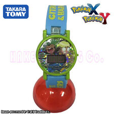 Pokemon Pocket Monsters Cartoon Kids Digital Watch Clemont&Harimaron Takara Tomy