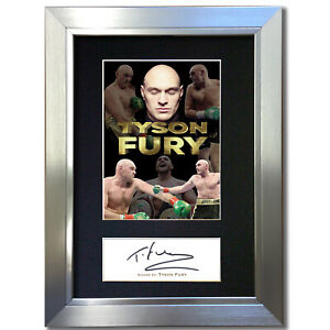 TYSON FURY Signed Autograph Mounted Reproduction Print A4 846
