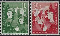 Germania - R.F.T. - 1952 - Opere per la Gioventù - nuovi MNH - nn.39/40