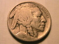 1925-S Buffalo Nickel Nice Fine Toned Original F Indian Head 5 Cents USA Coin
