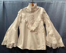 Antica Camicia Camicetta Pizzo Valencienne Originale