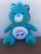 As new & tags Care Bear 32cm music note Plush toy HEARTSONG blue 2006  FREE POST