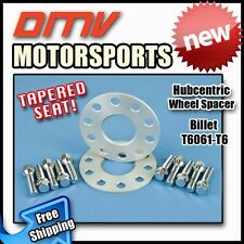 5MM Hubcentric Wheel Spacers Silver Tapered Bolts Benz 5x112 66.5 12x1.5