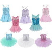 Girls Ballet Dance Dress Kid Leotard Latin Ballerina Camisole Outfit Costumes