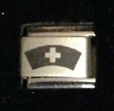 Nurse - Medical Red Cross - Italian Charm Bracelet Link 9mm - Laser Linx