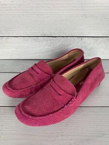 Vaneli Women's Size 7.5  M Pink Suede Spring Driving Moccasins Penny Loafers
