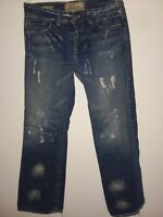 WILLIAM RAST Jeans Size 32 Men's BILLY FLARE Button Fly  Blue 100% cotton