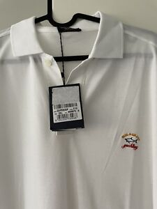 Paul And Shark Sailing Yachting Designer Polo Shirt Made In Italy RRP$269