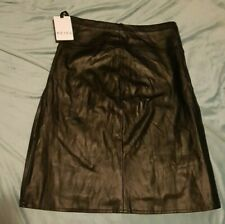 REISS Ladies Leather Look Skirt Size: UK 10 NEW WITH TAGS RRP £89