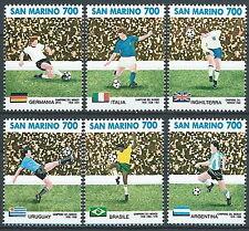 1990 SAN MARINO MONDIALE CALCIO DA FOGLIETTO MNH ** - ED