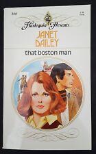 Harlequin Presents Janet Dailey That Boston Man Vintage 1980 Romance