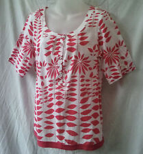 Wombat Size 14 Top Blouse Shirt Cotton Short Slv Work Casual Holiday FREE POST