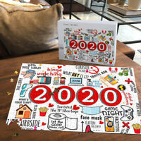 2020 Paper Jigsaw Toilet Mask Game Thermometer Home Decor 500 Piece Puzzle Gift