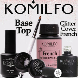 KOMILFO Nail Gel Polish Rubber Top & Base Matte Top, No Wipe, Top Coat Discount