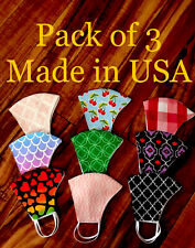 Pack Of 3 face masks with filter Pocket/ Reusable, Washable. Made In USA.