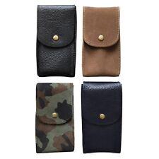 Watch Travel Pouch Leather Suede Storage Case Handmade