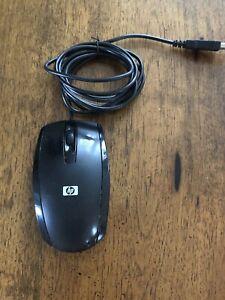 HP N910U Black USB Wired  Scroll Optical Mouse 505062-001