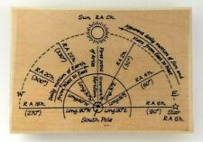 Great Astronomy Rubber Stamp 'Motion of the SUN and STARS' from Postmodern NEW