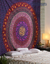 Mandala Twin Size Wall Hanging Tapestry Indian Floral Cotton Bedspread Decorate