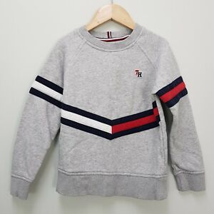 TOMMY HILFIGER Boys Size 116 or 6 Grey Sweater / Jumper