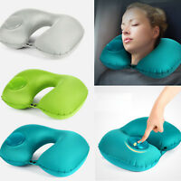 Portable Ultralight Self Inflatable U-Shaped Air Pillow Bed Cushion Neck travel