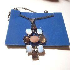 Avon smoky Topaz and faux opal necklace..