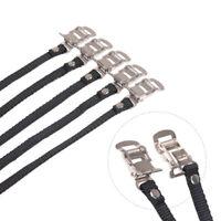 CKC Single Strap Toe Clips Medium Road Bike Fixed Gear Black NEW w// Toe Straps!