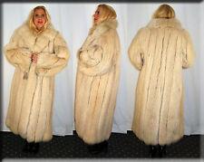 New Blush Fox Fur Coat Size Large 10 12 L Efurs4less