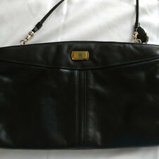 Elegant Vintage Etienne Aigner Genuine Leather Cross-Body Handbag