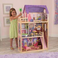 KIDKRAFT KAYLA LARGE WOODEN DOLLS HOUSE BRAND NEW BOXED 10 PIECE FURNITURE NEW