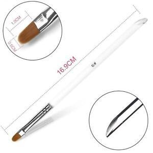 6mm Acrylic UV Hard Poly Gel Nail Art Polish Builder Gel Brush Manicure Tool UK