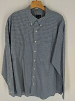 JOS. A. BANK Men's classic Tailored Fit Plaid Long Sleeve Button Up Shirt XL